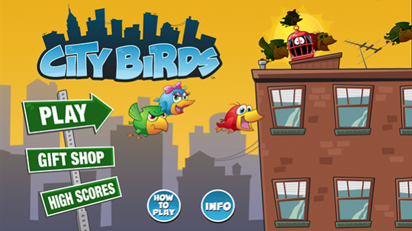 City Birds Menu Screen